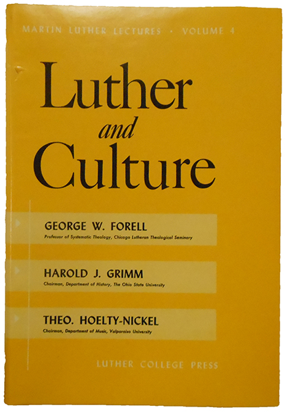 Luther And Culture
