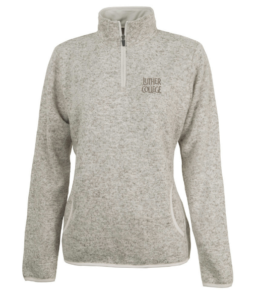 1/4 Zip Heathered Fleece