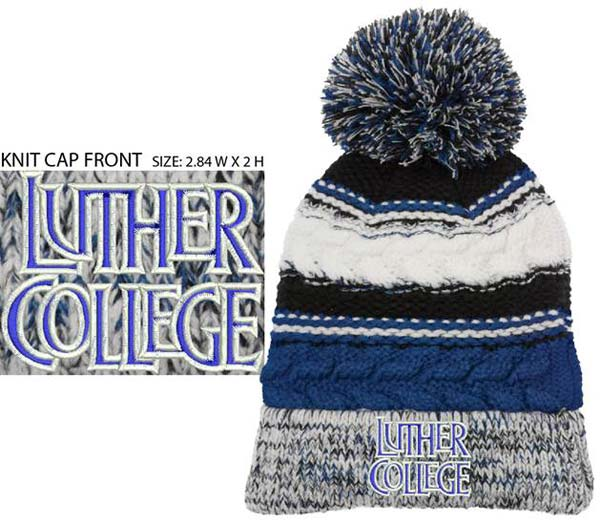 Sport-Tek Pom Pom Knit Team Hat