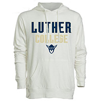 LONG SLEEVE TEE WITH HOOD LUTHER COLLEGE