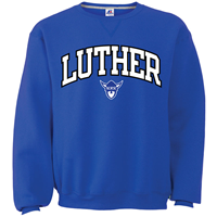 Luther Arched Crew Over Norsehead Embroidery