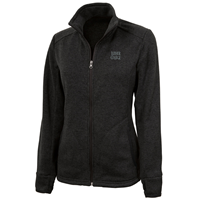Black Heathered Fleece Jacket