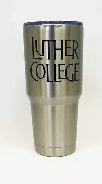 Tumbler 30 Oz Travel Luther College Stacked