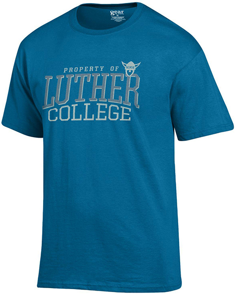 Property Of Luther College Norsehead Tee (SKU 1039875354)