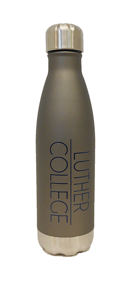 Water Bottle 17 Oz Matte Gray Luther College