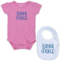 INFANT LUTHER COLLEGE ONESIE AND BIB