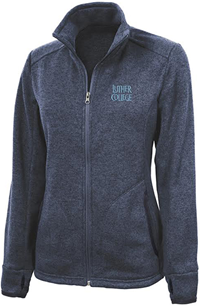 Blue Heathered Fleece Jacket