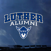 Decal Arched Luther Over Alumni