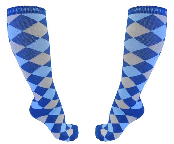 Sock Tall Diamond Pattern