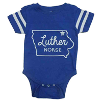Onesie Iowa Outline Luther Norse