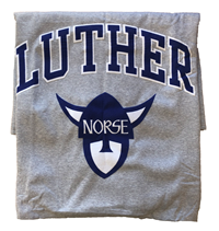 Blanket Sweatshirt Luther Arched Over Norse Head