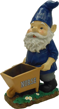 Norse Gnome With Wheelbarrow