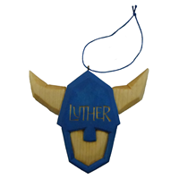 Limited Edition Luther Norse Wood Carved Ornament By Harley Refsal