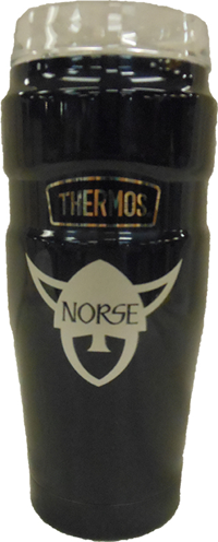 Norse Head Navy Thermos Travel Tumbler