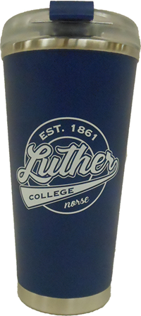 Luther College Circle Travel Mug Blue