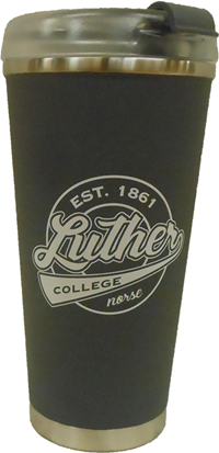 Luther College Circle Travel Mug Gray