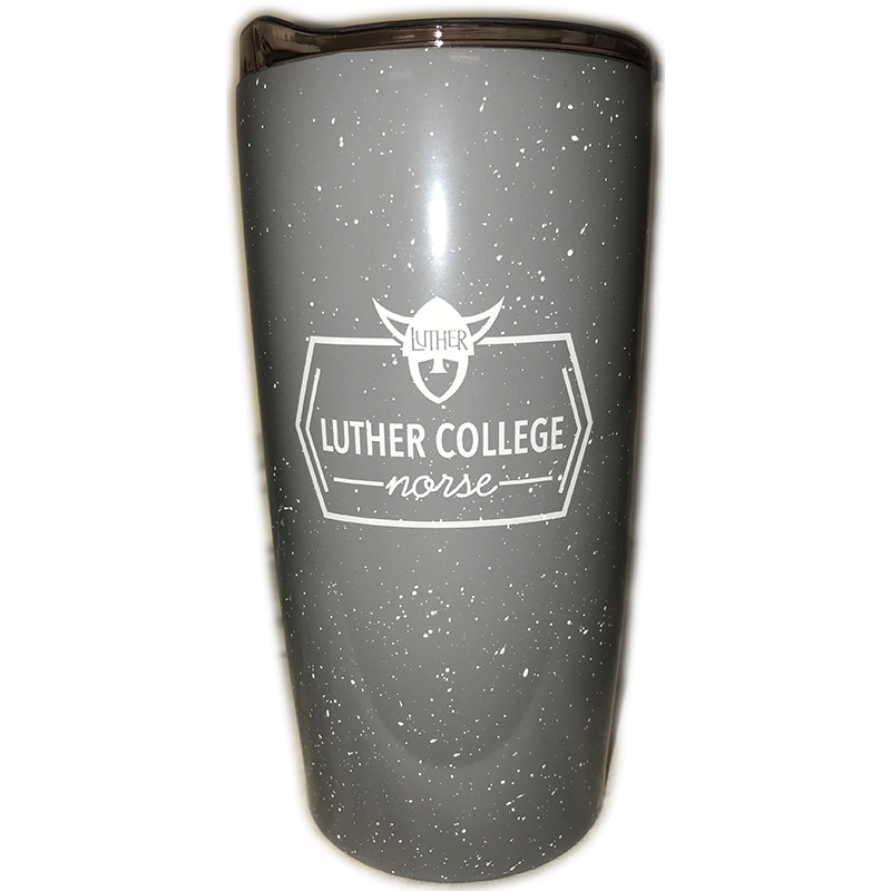 Luther College Norse Gray Speckeled Travel Tumbler (SKU 1047085519)
