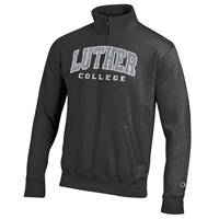 1/4 ZIP DISTRESSED LUTHER COLLEGE