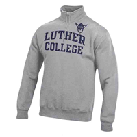 1/4 Zip Luther College Norsehead