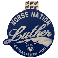 Sticker Norse Nation Luther Script
