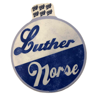 Sticker Luther / Norse Script